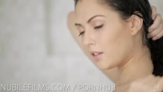 Lesbian lovers hot shower orgasm