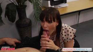 Office milf babe in stockings Dana Dearmond fucking