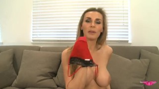 Stockings plays tate tanya pussy with in lingerie mom british