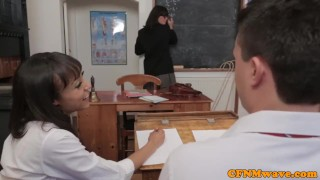 Dominant school teacher Stephanie Blows humiliate guy