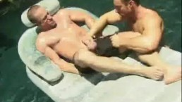 Muscled Cock Sucking Men By The Pool