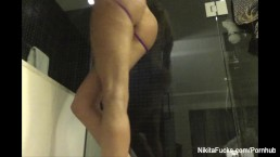 Nikita Von James sexy Shower