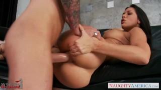 Busty gf Rachel Starr fucking Reverse boobs