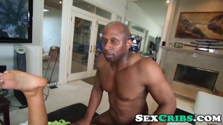 Thick Big Black Monster Cock Slamming August Ames hot wet pussy