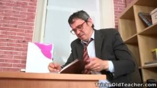 Tricky Old Teacher - Teachers usually been fired Reversal anal