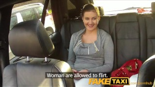 Babe haired black faketaxi cock loves taxi driver fingering point