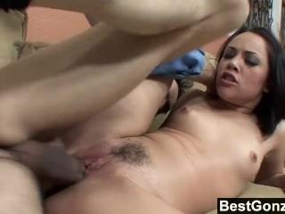 Teen spreads her legs for stepdaddy