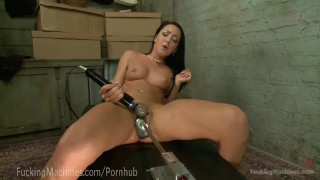 Steel cold hot hard in pussy machine toys