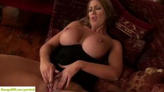 Leigh Darby Licks Big Mature Tits