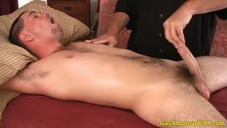 Jock dude visits a gay massage parlor