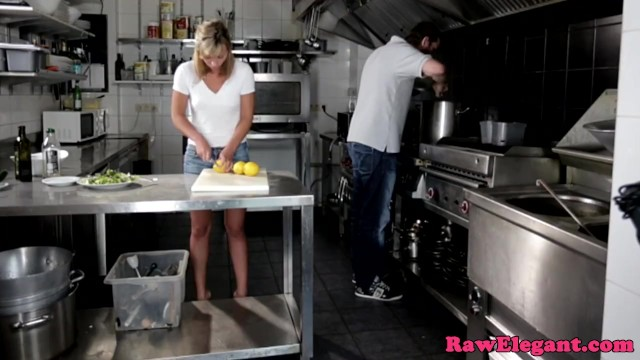 Beautiful chef babe assfucked in the kitchen - 2