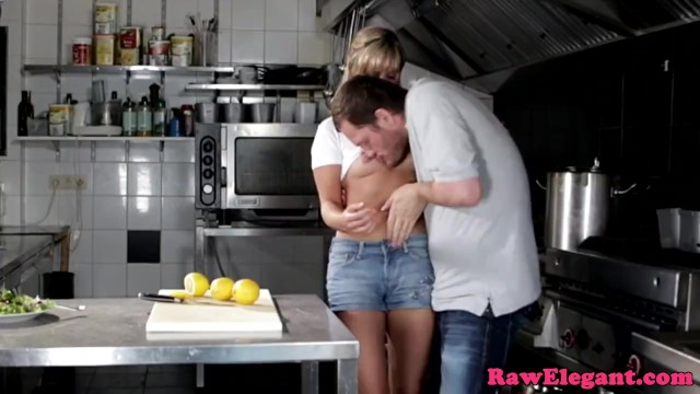 Beautiful chef babe assfucked in the kitchen - 4