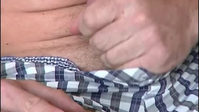 2 loads... french hunk (keri) get wanked his huge cock by us! - 4