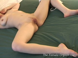 Big Pussy Lips, Sopping Wet Orgasm Contractions, Big Tits, and Hot MILF