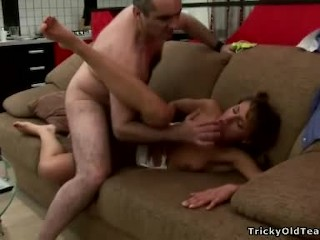 Tricky Old Teacher - Young school chick gets fucked
