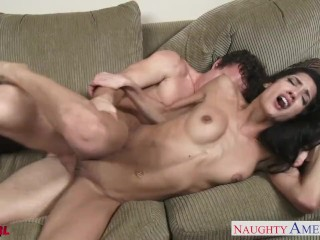 Sexual brunette Chloe Amour fucking