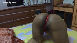 Bent over with Dildo