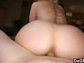 Girl next door finally sucks my cock