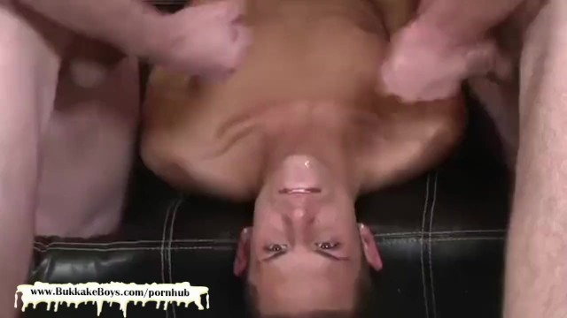Twink boy in love - Hot twink loves it when all those horny fuckers cum on his pretty face