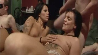 melodyy starr worshiping balls in a swingers club gangbang party