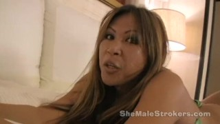 Strokers pierced lady tgirl hannah cock with shemale nipples shemale heels