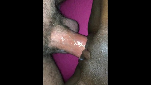 Wife masturbates with me White husband wanking and cumming in his black wife pussy