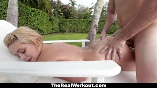 The horny therealworkout housewife fucks poolboy naturals pool