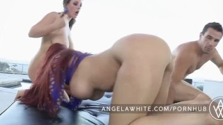 Australian all anal white big threesome tit angela busty 3some