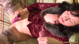 Orgasms maya body and cumshots on  her real on