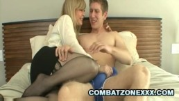 Nina Hartley - Busty Mature Feasting On A College Cock