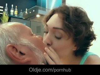 American beauty fucks hardcore with old perv