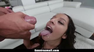 Loves exxxtrasmall tiny latina and big tight cock dick pov