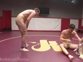 Hot Studs Wrestle For Dominance