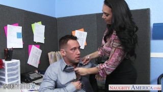 Holly brunette chesty ride office in west the cock big naughtyoffice