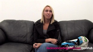 Great Ass Fucked & Creampie Surprise on Casting Couch