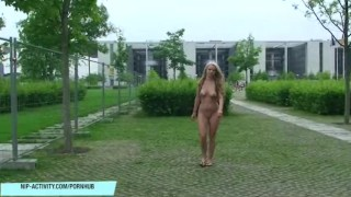 Girl in naughty naked german berlin anne outdoor blonde