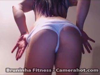 Ass shaking butt with white spandex shorts...