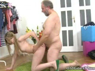 Old Goes Young - After a lengthy doggie style fucking Sveta gets her old