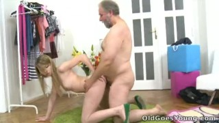 Old Goes Young After a lengthy doggie style fucking Sveta gets her old