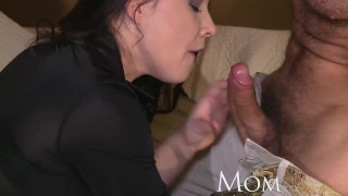 Mom milf george to his to tricks uses old get new climax cumshot inside