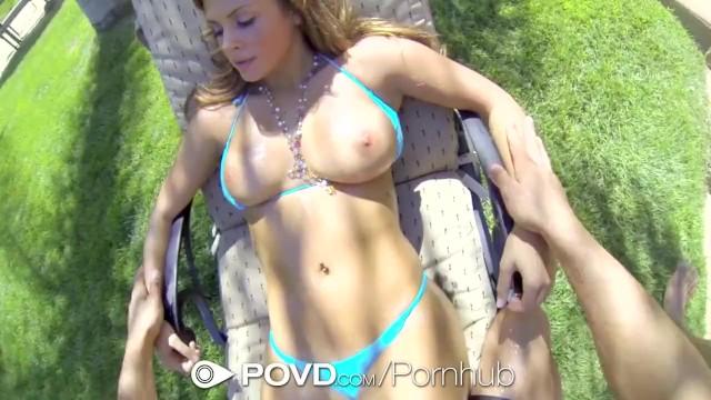 Bikini pov Hd povd - keisha grey loses rips off her bikini to get fucked