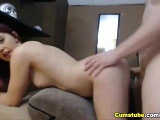 Pretty girlfriend fuck boyfriends cock...