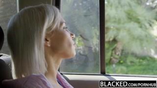 Blacked preppy jordan kacey with cheats bbc blonde girlfriend blonde tits