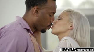 BLACKED Preppy Blonde Girlfriend Kacey Jordan Cheats with BBC porno