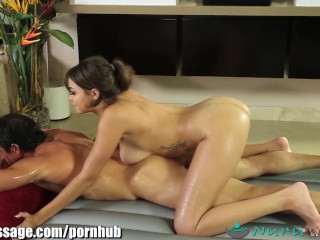 NuruMassage Cassidy Banks Slips and Slides on Cock