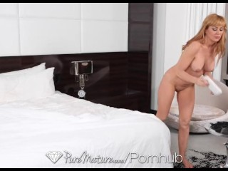 HD PureMature - Sasha Seans man has hot plans for her tight pussy