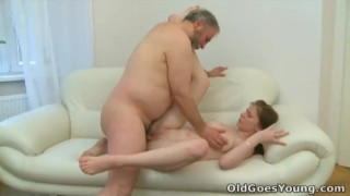 Old Goes Young Maria lets an old guy fuck her