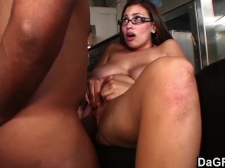 Busty secretary vs big black cock