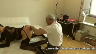 Milf dovers english on ben cock gags mom facial