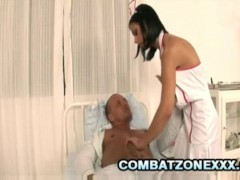Black Angelica: Busty Euro Nurse Having Sex With Patient